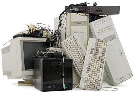 Produtos eletrônicos reciclados
